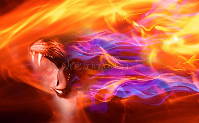 Drago del fuoco Fondo di struttura della testa del drago di fantasia illustrazione vettoriale