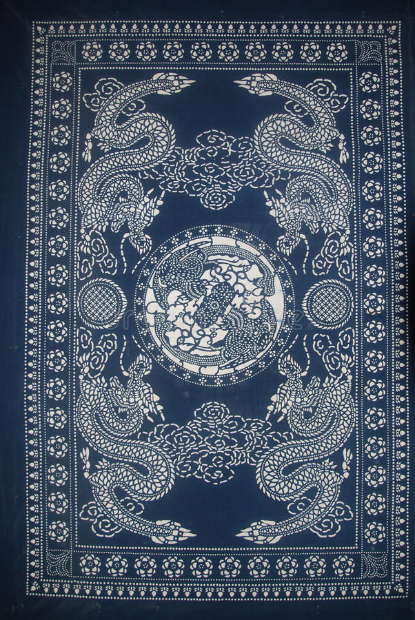 Drago della Cina del batik di Miao immagine stock
