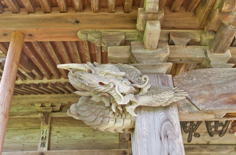 Drago di Akita Shinto Shrine, Yokote, Giappone immagini stock