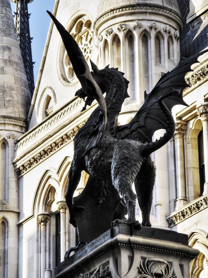 Drago di Antivari del tempio di Londra immagine stock libera da diritti