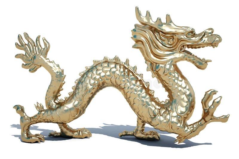 Drago dorato illustrazione vettoriale