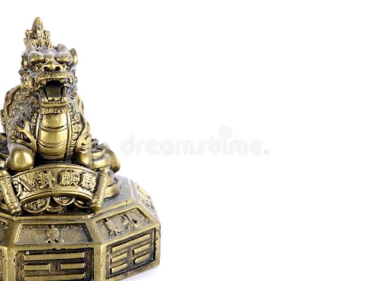 Drago dorato immagini stock