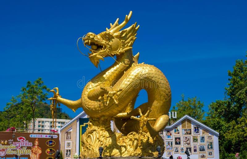 Drago dorato a Phuket Tailandia del sud fotografia stock