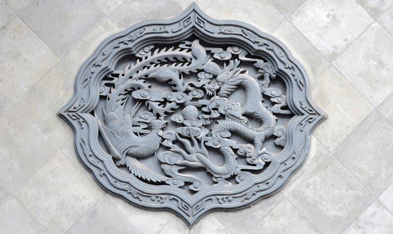 Drago ed emblemi di Phoenix immagine stock libera da diritti