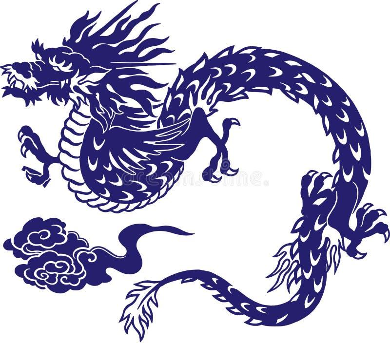 Drago giapponese royalty illustrazione gratis