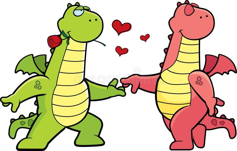 Drago Romance illustrazione di stock