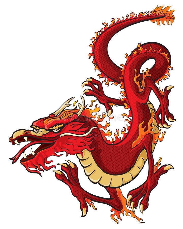 Drago rosso illustrazione vettoriale
