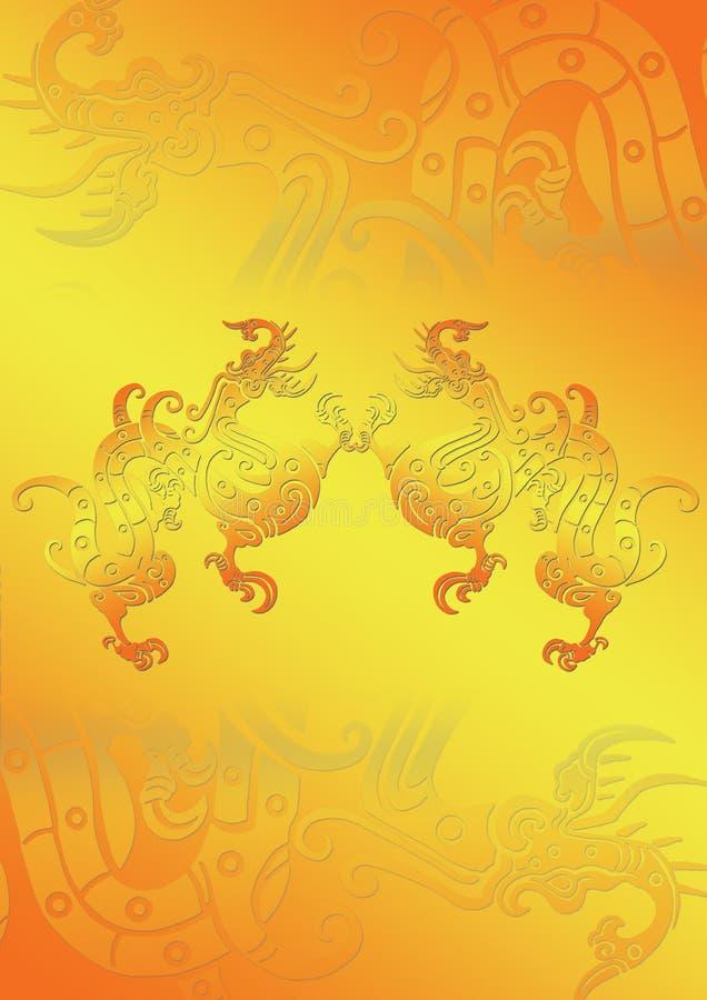 drago su oro illustrazione vettoriale