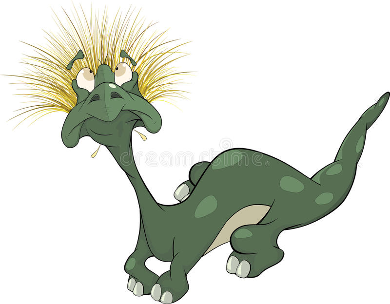 Drago verde gentile. Fumetto royalty illustrazione gratis