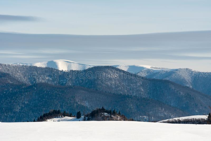 dragobrat krajobrazowa halna Ukraine zima obrazy stock