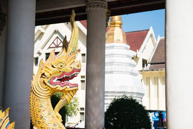 Dragon élaboré asiatique ou bouddhiste symbolisant la bonne chance photographie stock libre de droits