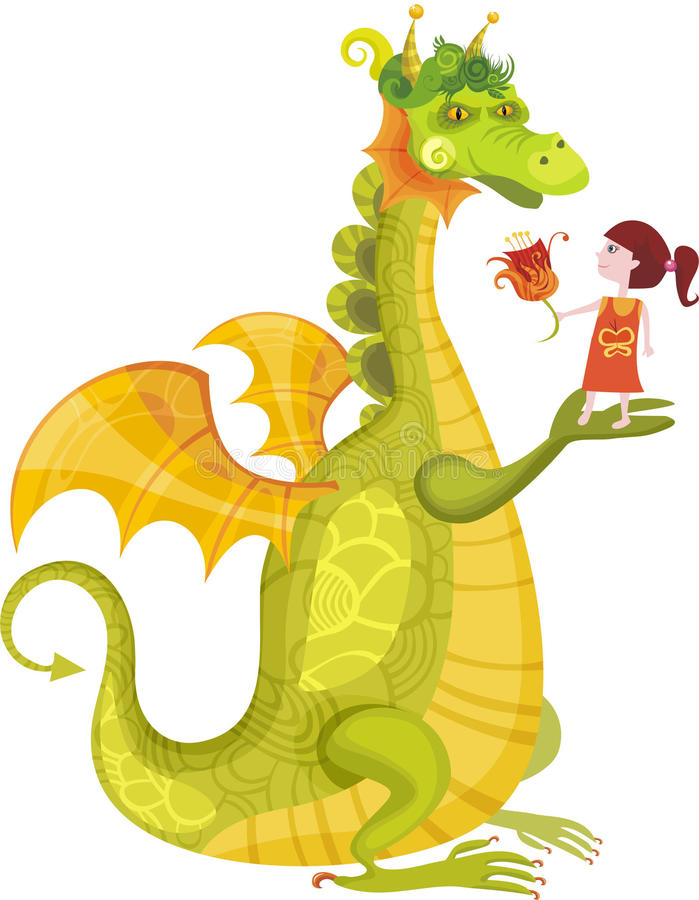 Download Dragon stock vector. Image of royal, brave, design, humor - 11288650