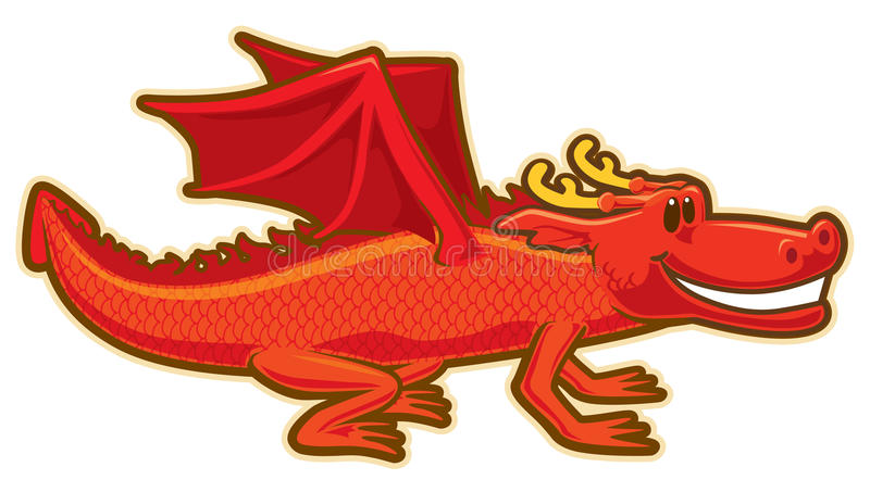 Download Dragon stock vector. Image of sticker, natural, baby - 14140081