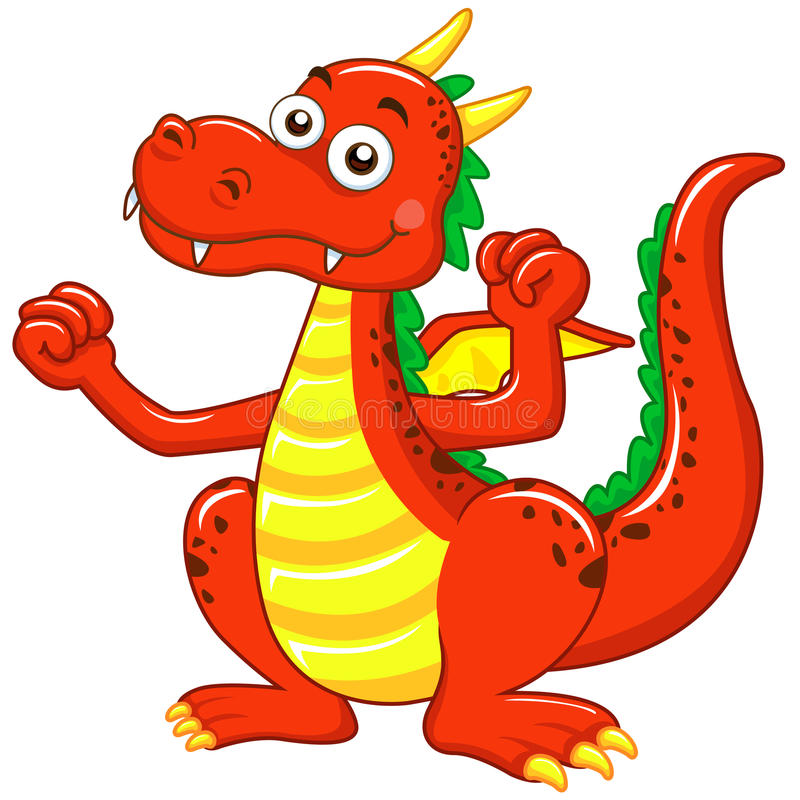 Download The dragon stock vector. Image of animal, tale, colors - 20243232