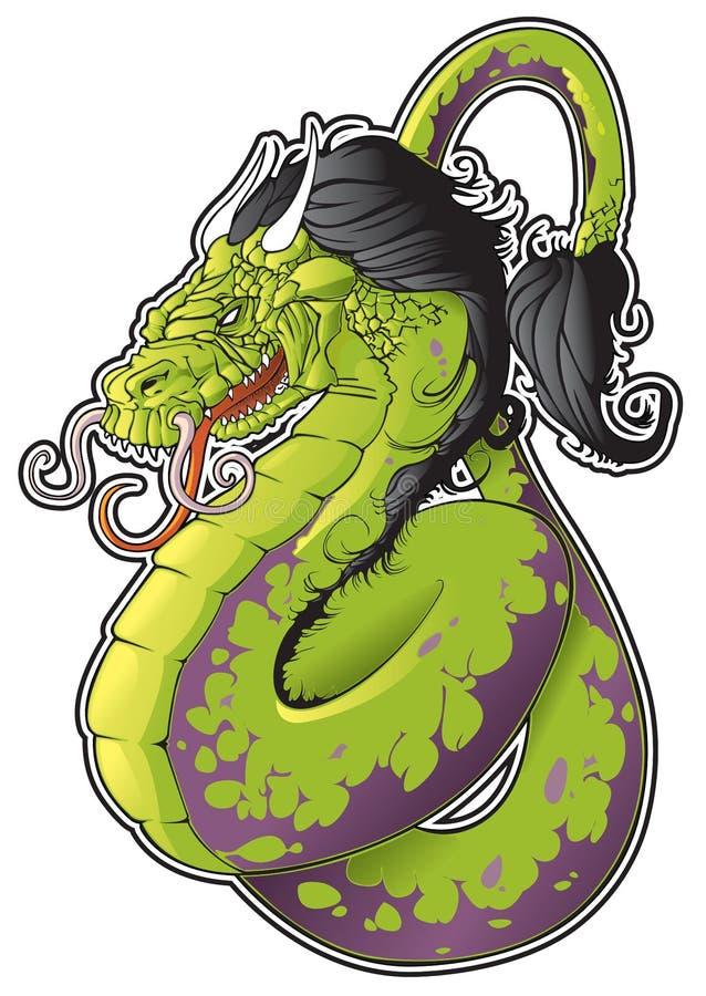 Download Dragon stock vector. Illustration of teeth, monster, dragon - 20450534
