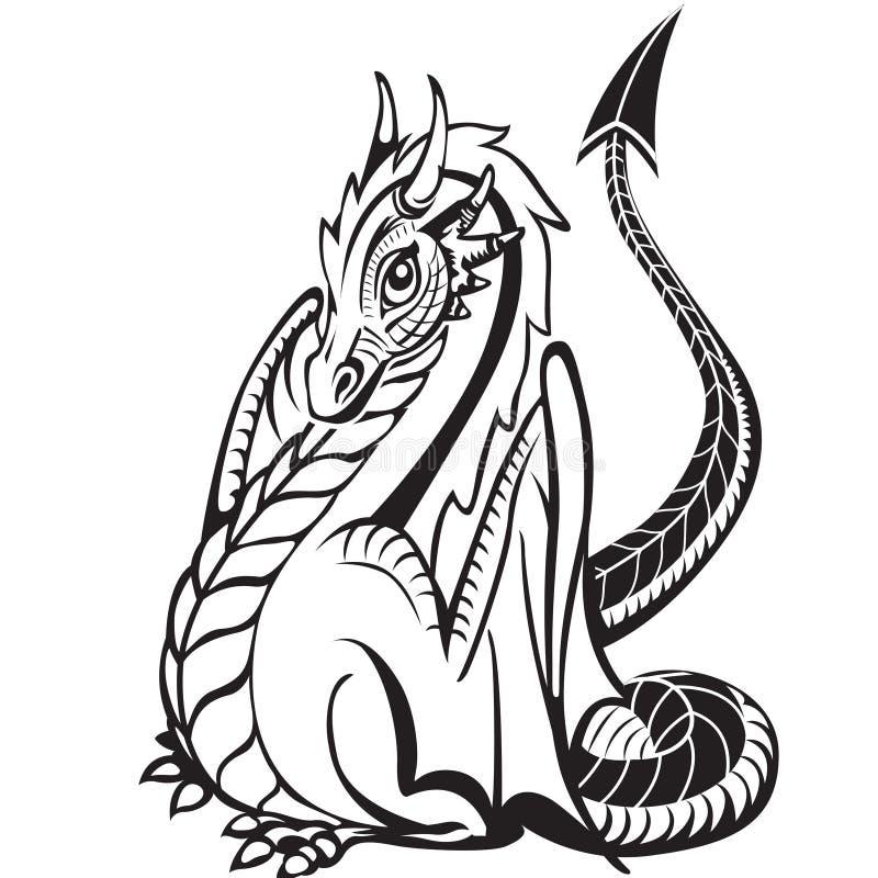 Download Dragon stock vector. Image of ornate, fantasy, mythological - 20641254