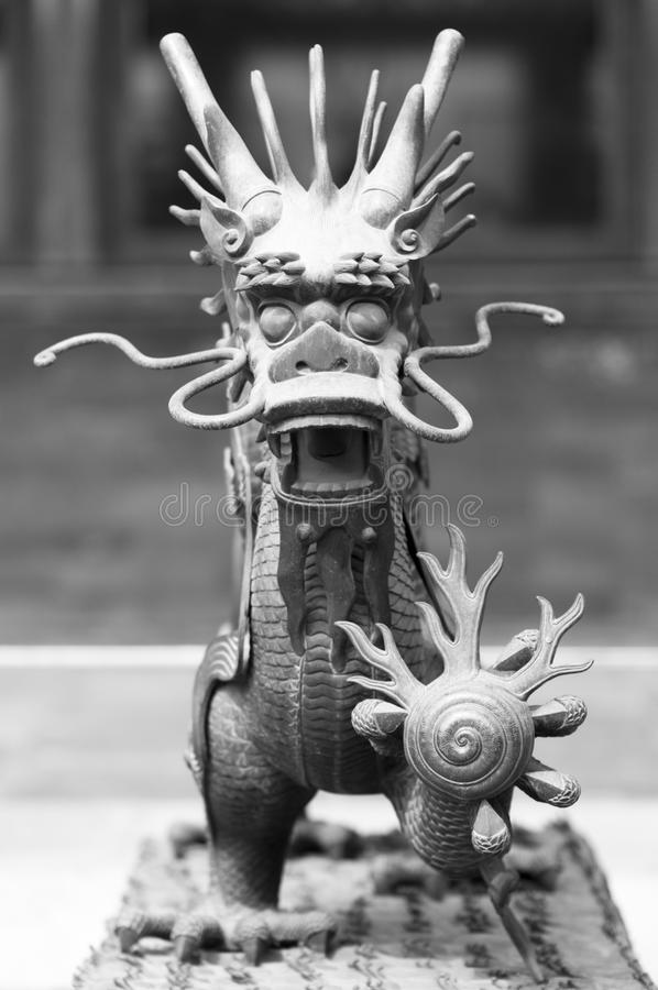Dragon. Statue of a dragon in the Forbidden City, Beijing, China royalty free stock photos