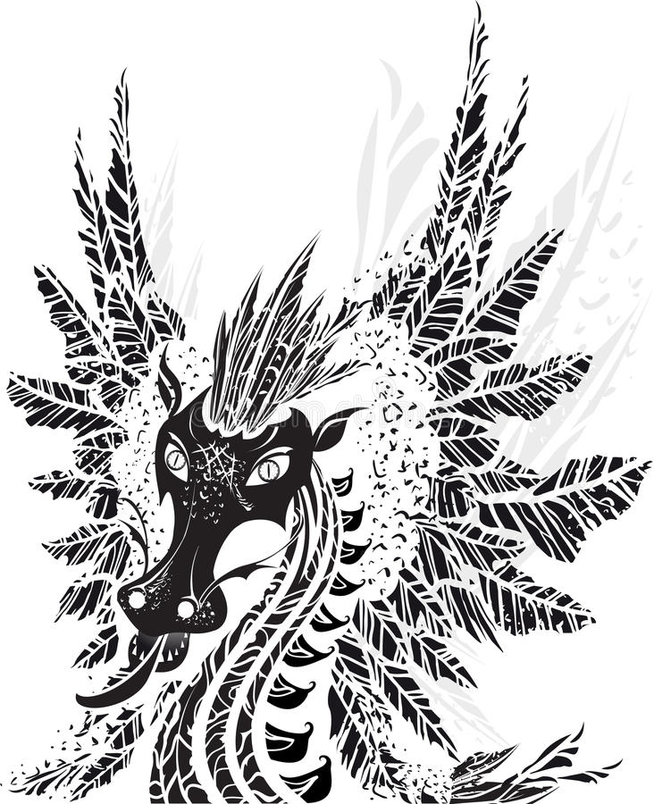 Download Dragon stock vector. Image of karma, illustration, circle - 26483501