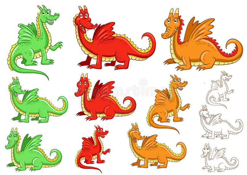 Download Dragon stock vector. Illustration of smile, tales, illustration - 28566952