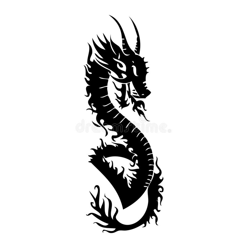 Download Dragon stock vector. Image of military, snake, earth, icons - 3437672