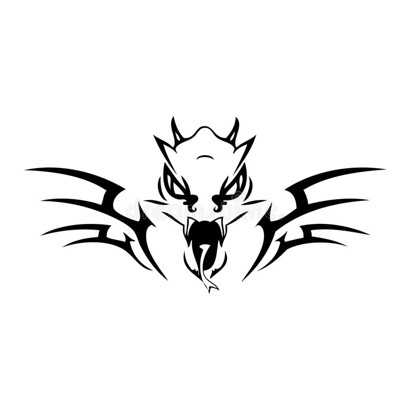 Download Dragon stock vector. Image of grafitti, lizard, elements - 3437679
