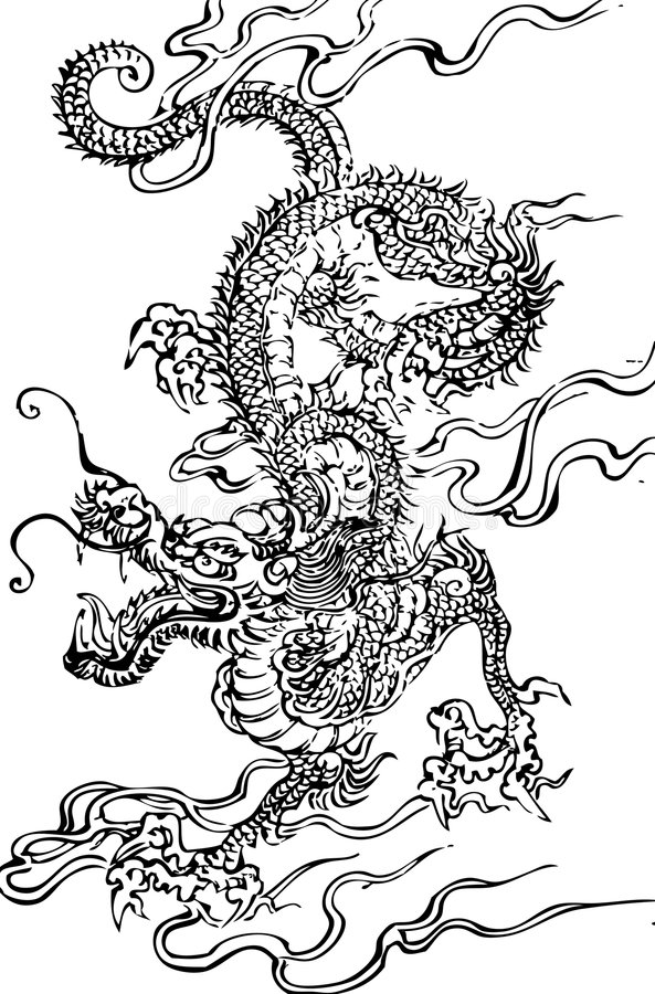 Download Dragon stock vector. Image of ornamental, esoteric, flying - 4442385