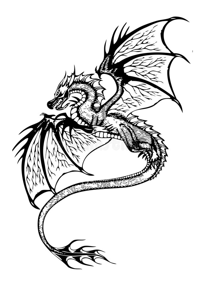 Download Dragon stock vector. Image of chinese, style, speculative - 4789647