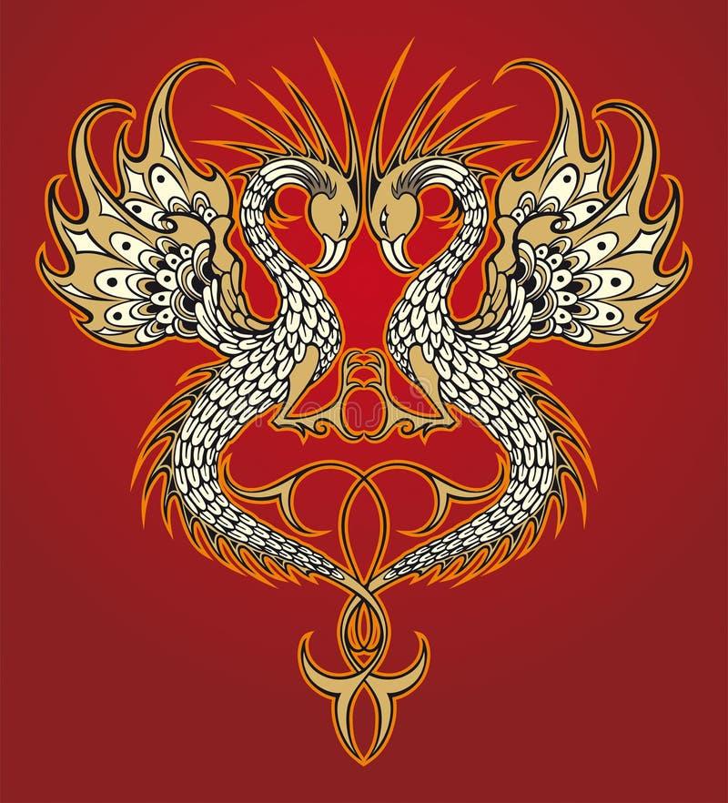 Download Dragon abstrait de vecteur illustration de vecteur. Illustration du ornement - 2148329