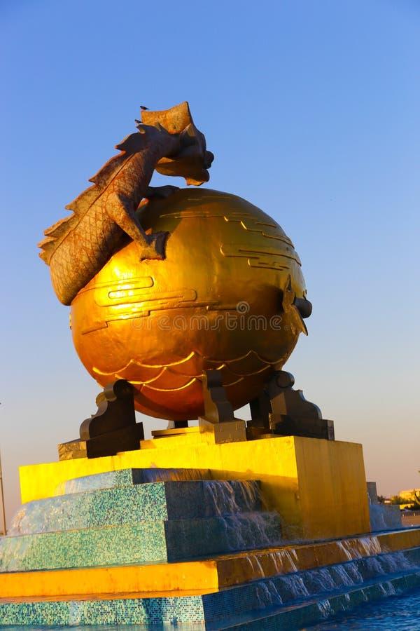 Dragon. Art Statue Dragon big Mall at Dubai Emirates royalty free stock photos