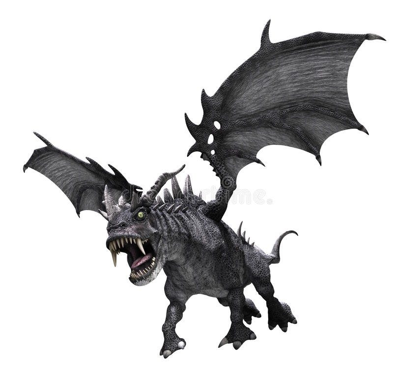 Dragon Attacking vector illustratie