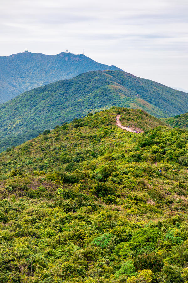Dragon back trail in Hong Kong royalty free stock photo