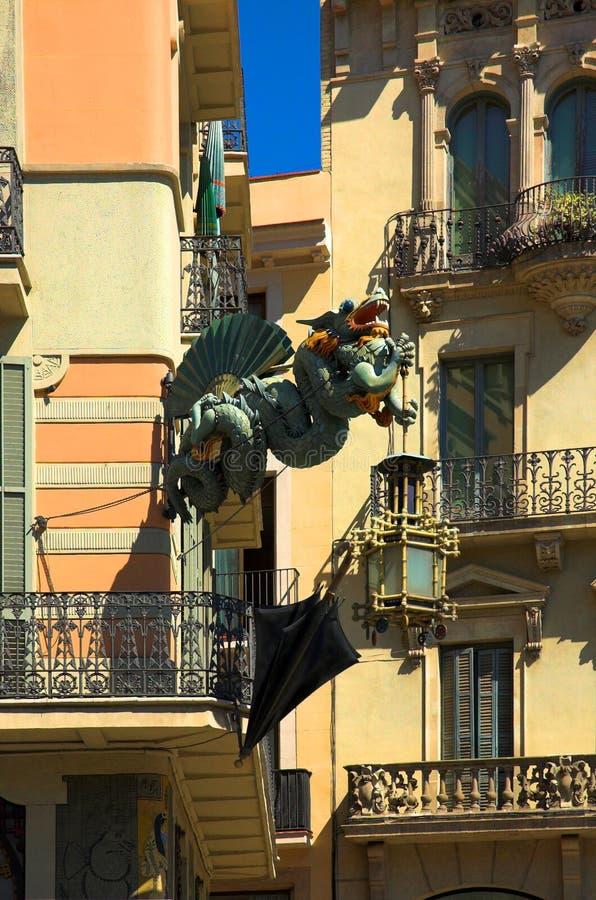 Dragon in Barcelona stock photos