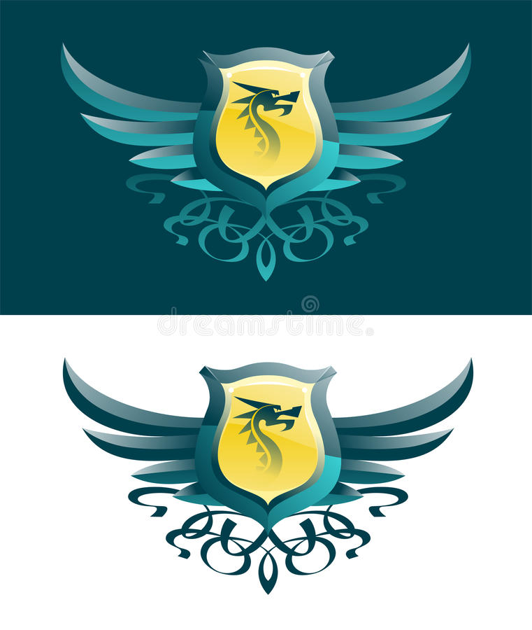 Dragon Blazon vector illustration
