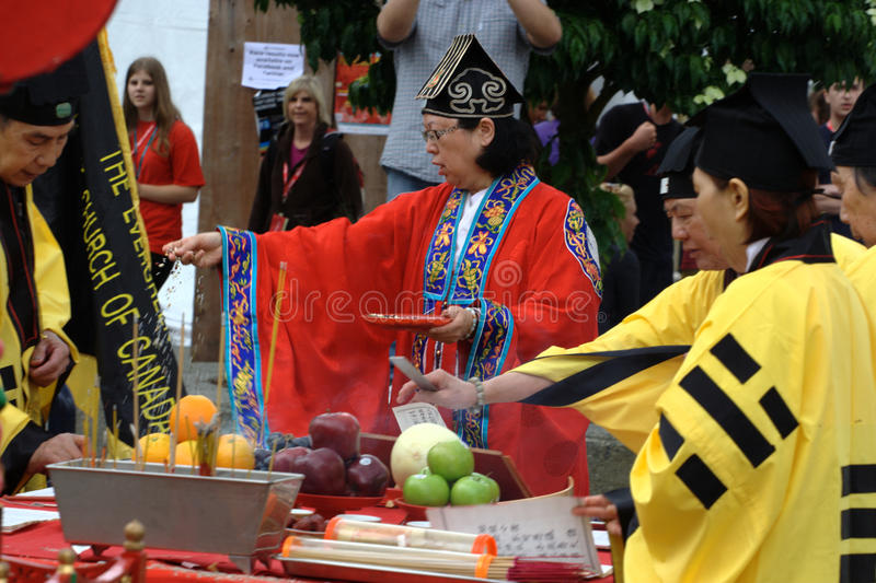 Dragon Blessing Ceremony royalty free stock images