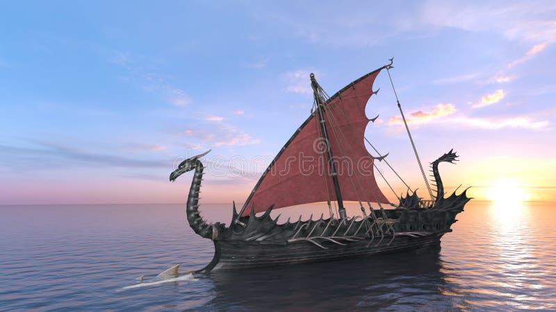 Dragon Boat royalty-vrije illustratie