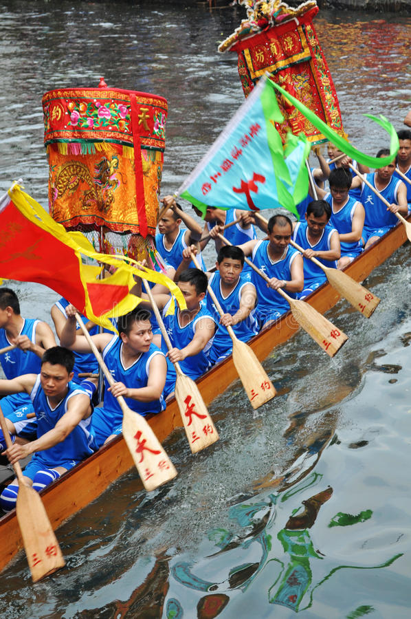 Download Dragon Boat editorial stock image. Image of dragon, human - 14862289