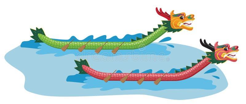 Dragon Boat vektor illustrationer