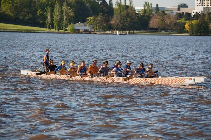 Dragon Boat Canberra imagem de stock
