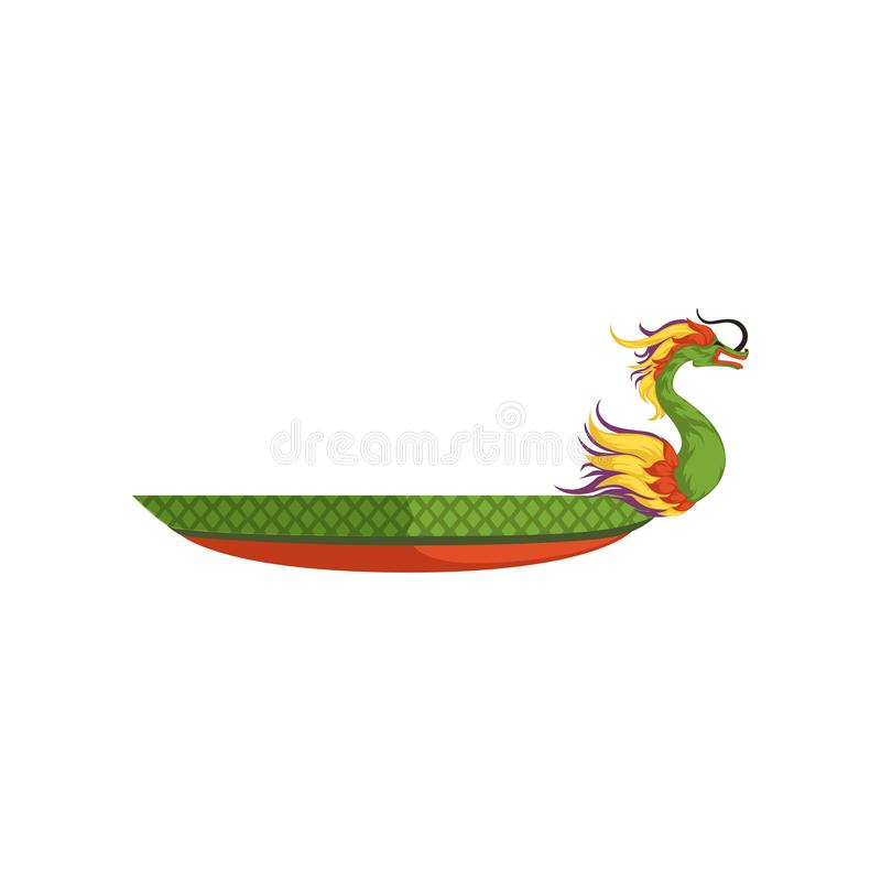 Download Dragon Boat Chinese Traditional Festival Vector Illustration On A White Background Stock
