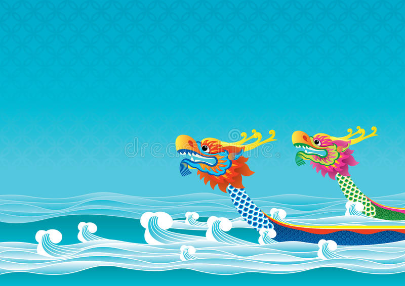 Dragon boat festival background vector illustration