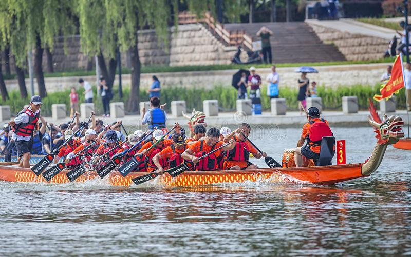 Dragon Boat Festival Competition - Dragon Boat Race tradicionais foto de stock