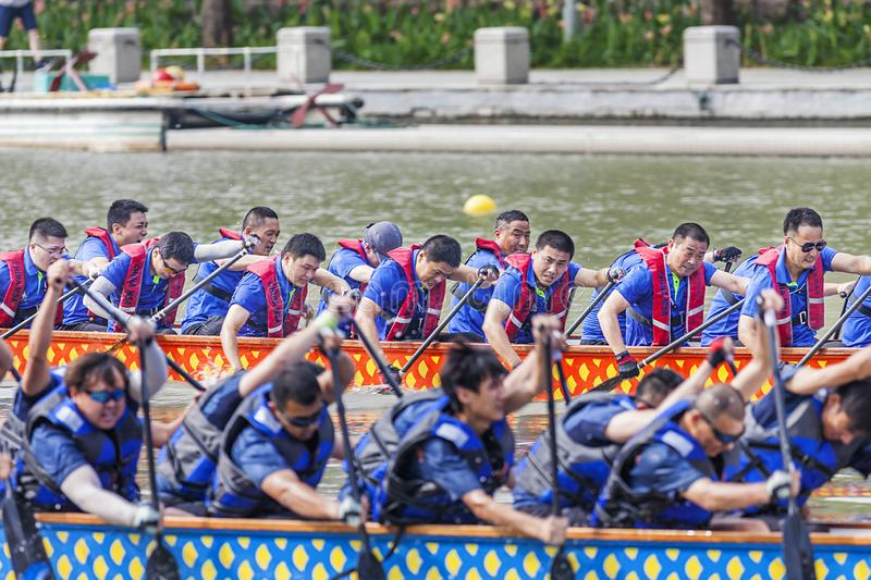 Dragon Boat Festival Competition - Dragon Boat Race tradicionais fotografia de stock royalty free