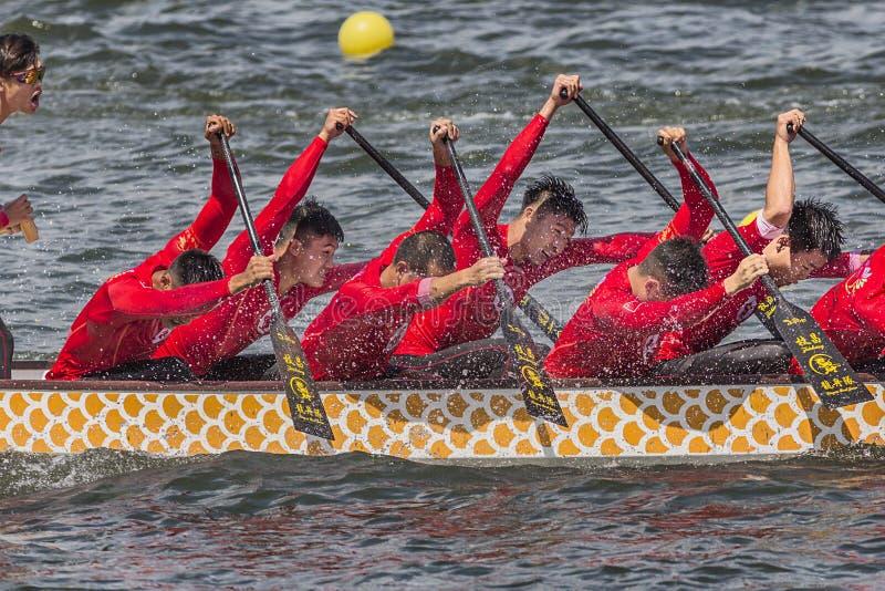Dragon Boat Festival Competition - Dragon Boat Race tradizionali fotografie stock
