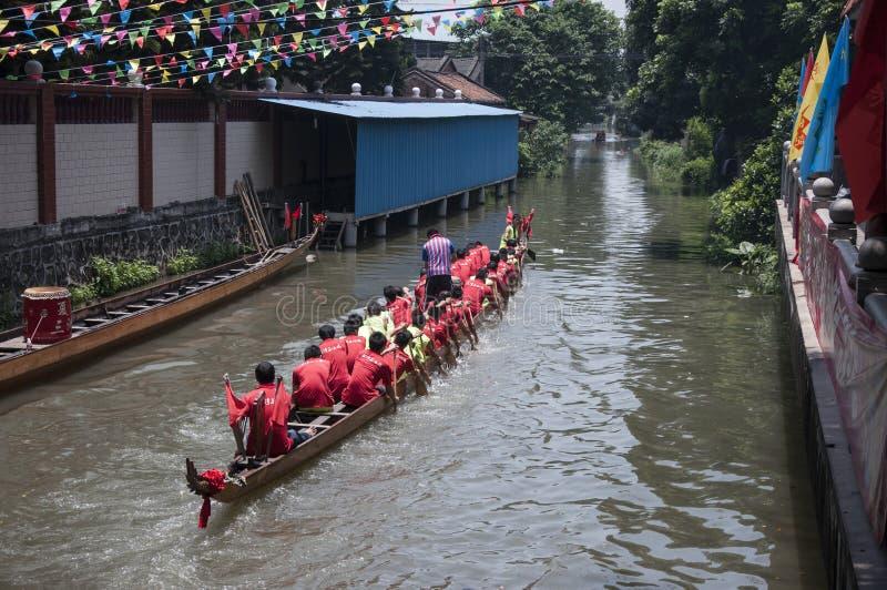 Dragon Boat Festival Foshan Guandong Cina fotografia stock libera da diritti