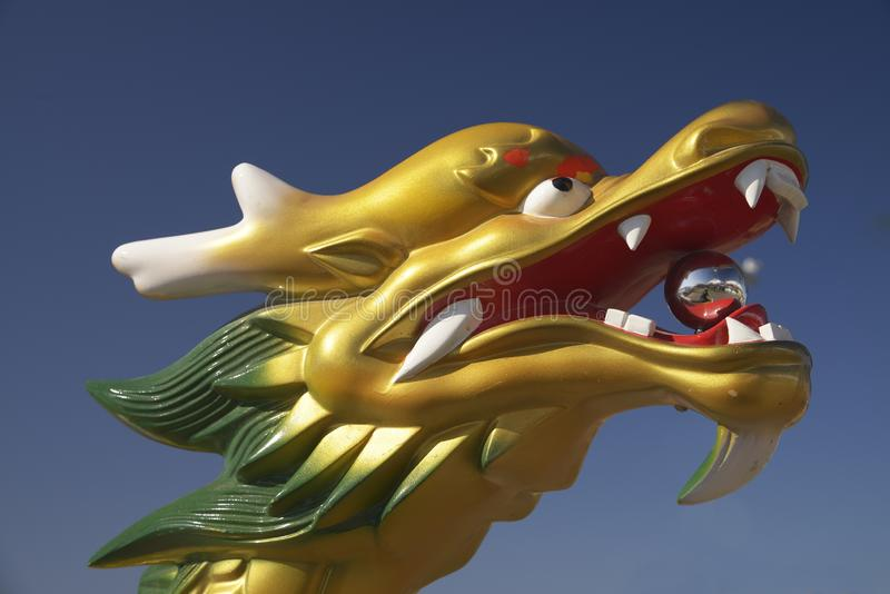 Dragon Boat Figurehead stock photos