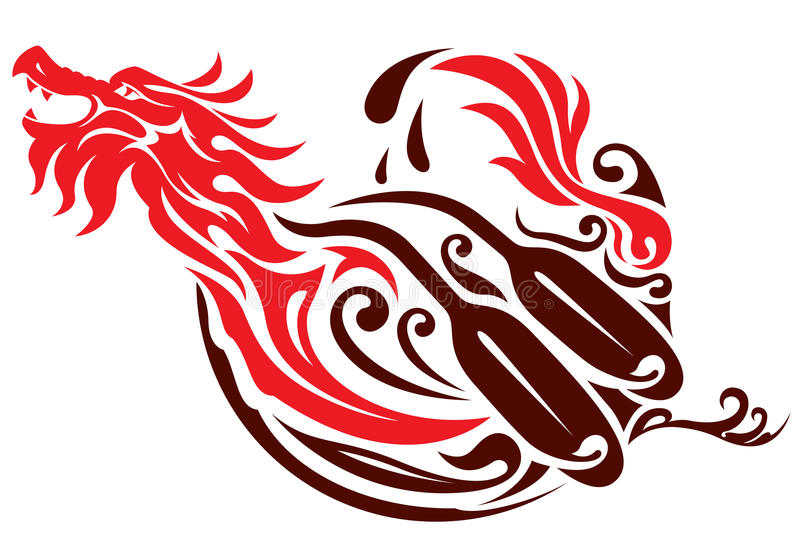 Download Dragon Boat Graphic Design Stock Vector Illustration Of Mythology