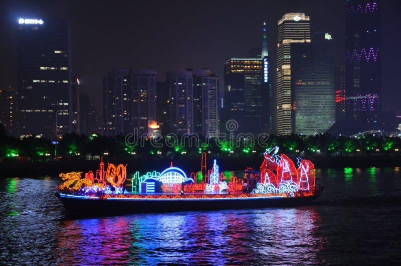 Dragon Boat in Guangzhou China stock photo
