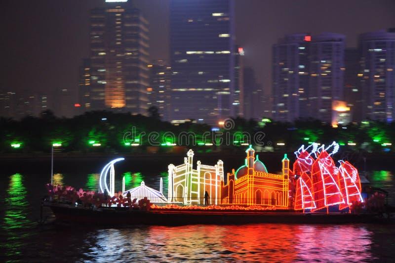 Dragon Boat in Guangzhou China stock image