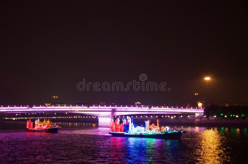 Dragon Boat in Guangzhou-Kanton China stock foto