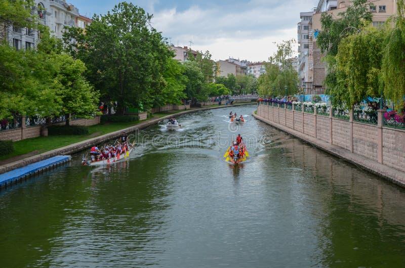 Dragon Boat Race stock afbeelding
